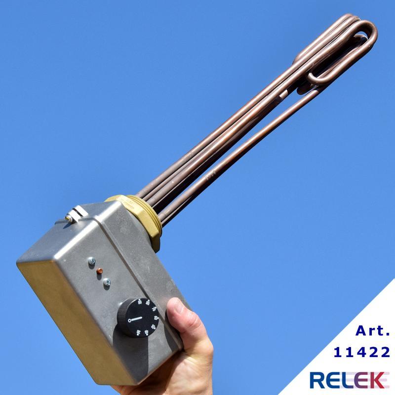 Elektrisk kassett 6000W 30-90 ° C 2-trinns PP2-S-6cu sidemontert