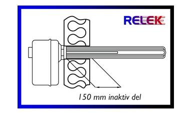 elektrisk kassettelement med 150 mm inaktiv del.