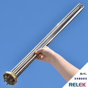 Elpatronelement  9000W R50 IL=755mm IU3R-9rf Long rostfritt