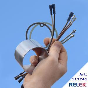 Förlängare till 4-stegs elpatroner med R50-huvud, förlängare som är 5 cm lång. Monteringssats ingår, med kablar som tål värme.