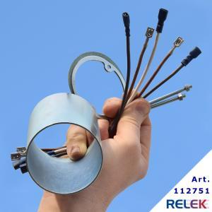 Förlängare till 4-stegs elpatroner med R50-huvud, förlängare som är 10 cm lång.   Monteringssats ingår, med kablar som tål värme.