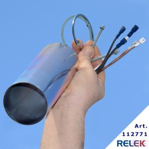 Förlängare till 4-stegs elpatroner med R50-huvud, förlängare som är 20 cm lång. Sats för montering ingår, med kablar som tål värme.