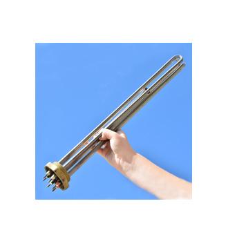 elpatronelement i rostfritt material med R50gänga 2tum. Dessa elpatroner används ofta i elpannor och för att värma vatten i varmvattenberedare.