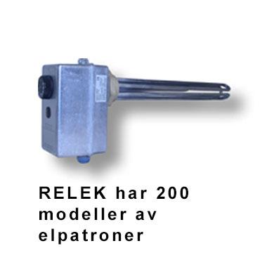 RELEK har 200 olika modeller av elpatroner, snabba leveranser inom hela Sverige