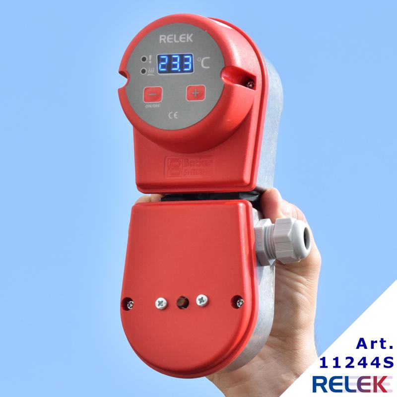 Elektronisk styrning komplett med mekaniskt överhettningsskydd för vätskesystem
