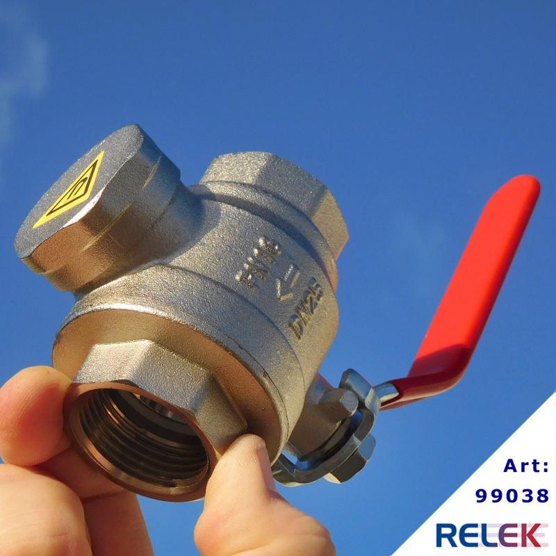 Filterkulventil, med sil och magnet, 386-R25 inv.