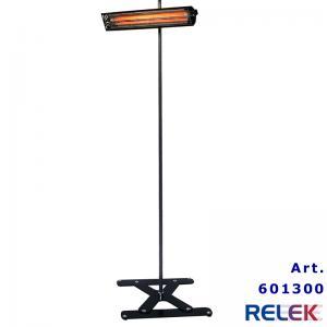 IR-värmare, flyttbar, 1000W, stabilt stativ, svart