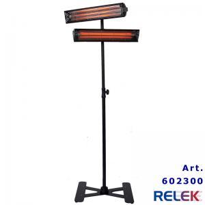 IR-värmare, flyttbar, 2000W, stabilt stativ, svart