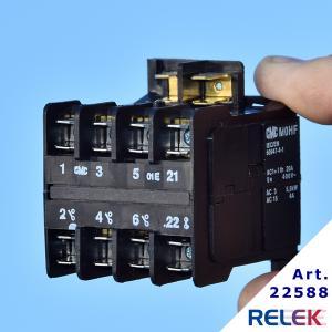kontaktor brumfri med fyrpolig kontaktor som gör att kontaktorn kan användas som huvudkontaktor eller hjälpkontaktor