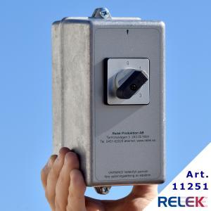 Kopplingsbox K8 B med manuell stegbrytare 0-1-2-3