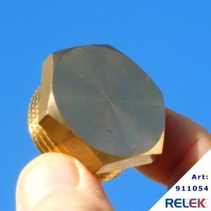 Blindplugg 25mm i mässing för RELEK Elpanna/elkassett