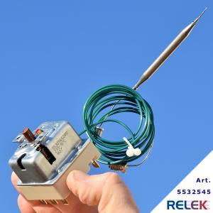 Överhettningsskydd EGO 3-pol. 235-16°C, kap.1790mm, bulb 6mm
