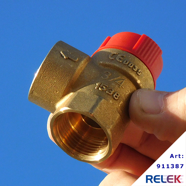 Säkerhetsventil 20, 1,5 bar, för RELEK Elpanna