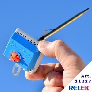 termostat med överhettningsskydd enpolig stavtermostat med stavlängd 210 mm