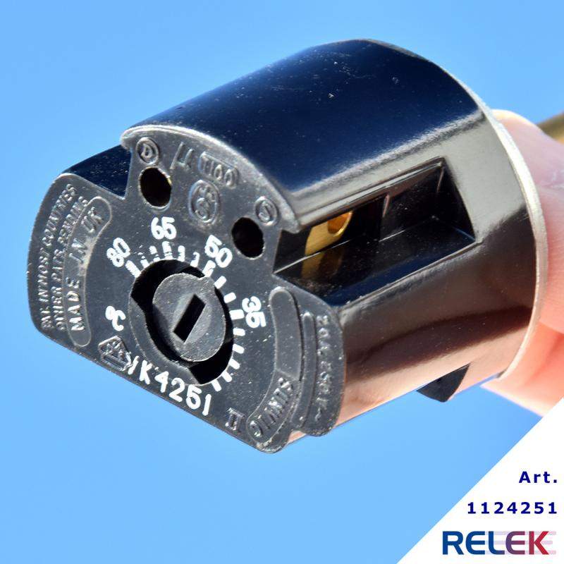 1-polig termostat Sunvic 10-88 grader stavlängd 178 mm