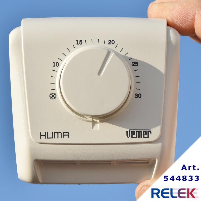 Rumstermostat Vemer  KLIMA 3, gasmembran, för värme/kyla