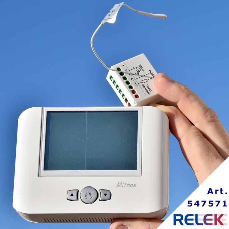 GSM-termostat MITHOS RF, med trådlös mottagare RX.16A