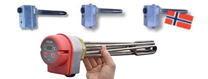 Kompletta elpatroner som används för att värma upp både vatten och olja / oljor. Varje elpatron är utvecklad av RELEK Produktion i Sverige. Dessa elpatroner finns även med modern elektronisk styrning, det ger mer flexibel styrning
