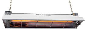 IR-värmare modell LCA 1000. Fäste för kedja ingår, kedja köper ni separat.