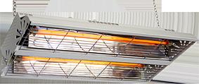 IR-värmare LCA 2000, 2000W. Fäste för kedja ingår.