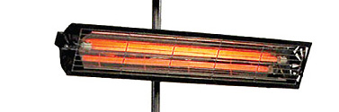 IR-värmare LPC 1000. Stabilt stativ med rejäl fot.