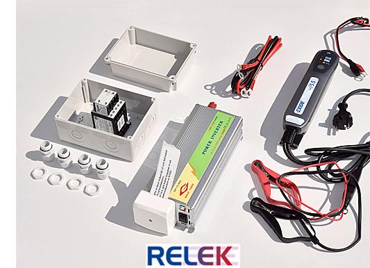 RELEK levererar nödströmsanläggningar med tillslagsautomatik som automatiskt kopplar in reservdrift från ett batteri