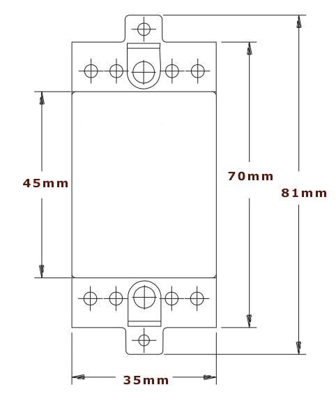 termostat yttre mått på 81 mm resp 35 mm