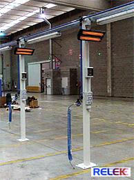 IR-värmare för industri, lager, olika lokaler mm.