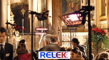 IR-värmare, ger behaglig och effektiv värme i exempelvis en kall kyrka