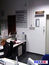 IR-värmare som ger behaglig värme i kontor, företag, bostäder mm.