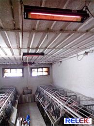 IR-värmare för lantbruk, djurhållning, djuruppfödning mm.