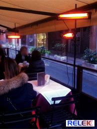 IR-värmare som ger skön värme på cafe, restaurang, uteserveringar mm.