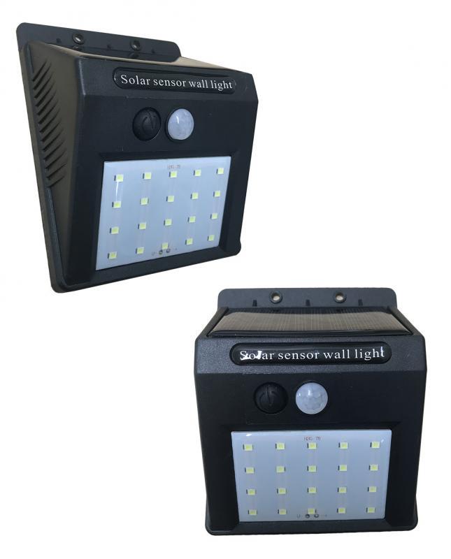 Väggbelysning LED med PIR rörelse detektor solcell