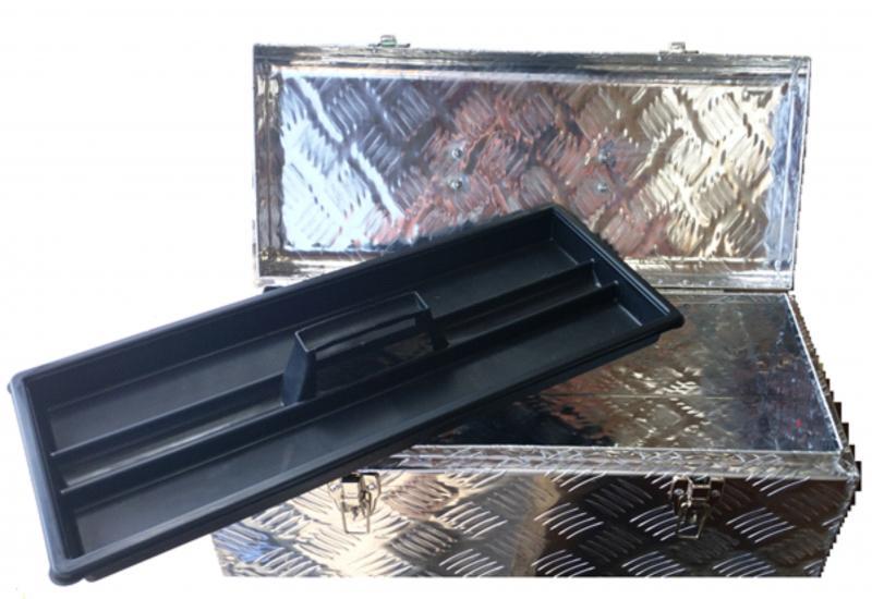 Verktygslåda i durkplåt 575 x 245 x 220mm