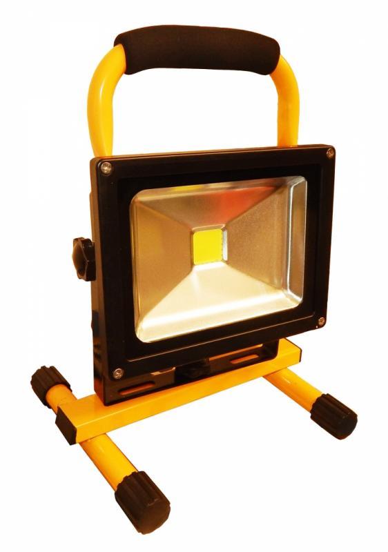 LED Bygg-/Arbetslampa -Cob-LED. Portabel