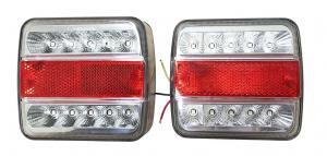 Vagnsbelysning LED 100x100x40mm. 2-pack