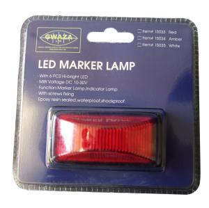 Markörlampa LED Röd