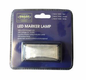 Markörlampa LED Vit