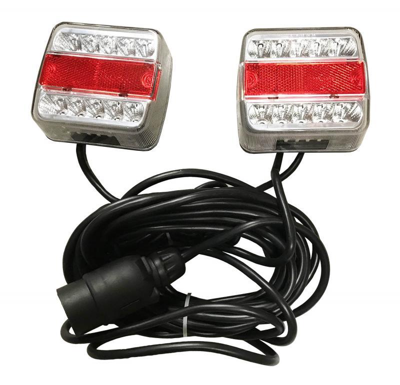 Vagnsbelysning LED Magnetisk 7-meter kabel