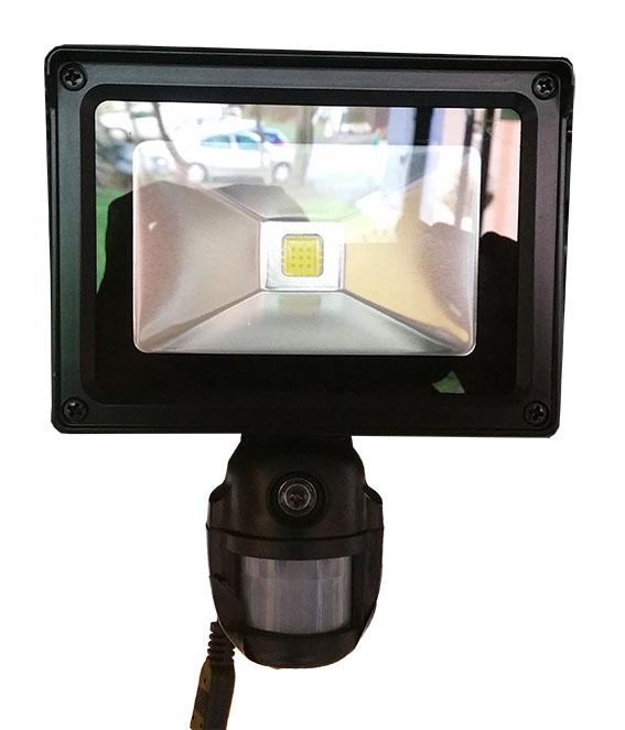 CoB-LED Strålkastare med PIR samt kamera