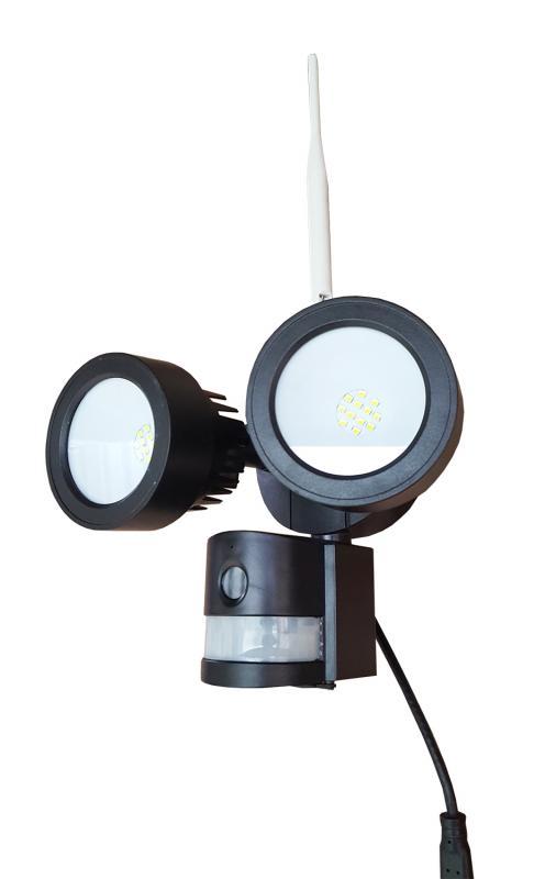 Övervakningskamera IP + PIR Sensor + LED Strålkastare