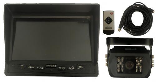 """Backkamera samt 7"""" monitor"""