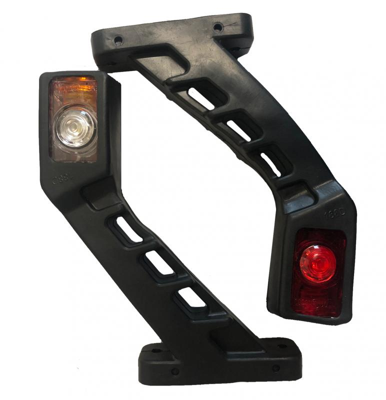 LED Sidomarkeringslampa - Lång -10-30V - 1 Par