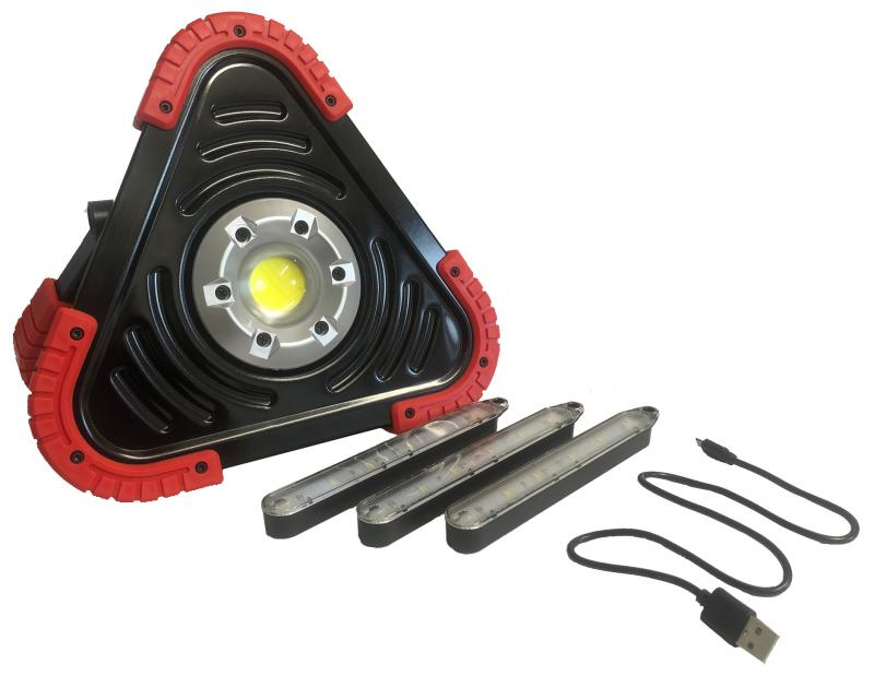 LED Arbetslampa - Varningstriangel