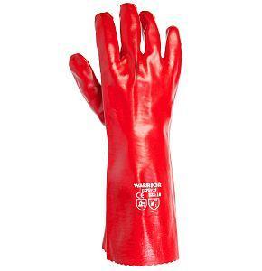 Gummihanskar 36cm PVC Stl 10 Röda