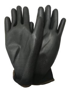 PU-belagda handskar 1-par Stl 9 Large