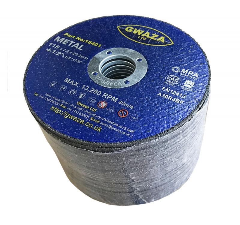 """Kapskiva Metall 115 x 3,2 x 22,2mm (4 1/2"""") 25-pack"""