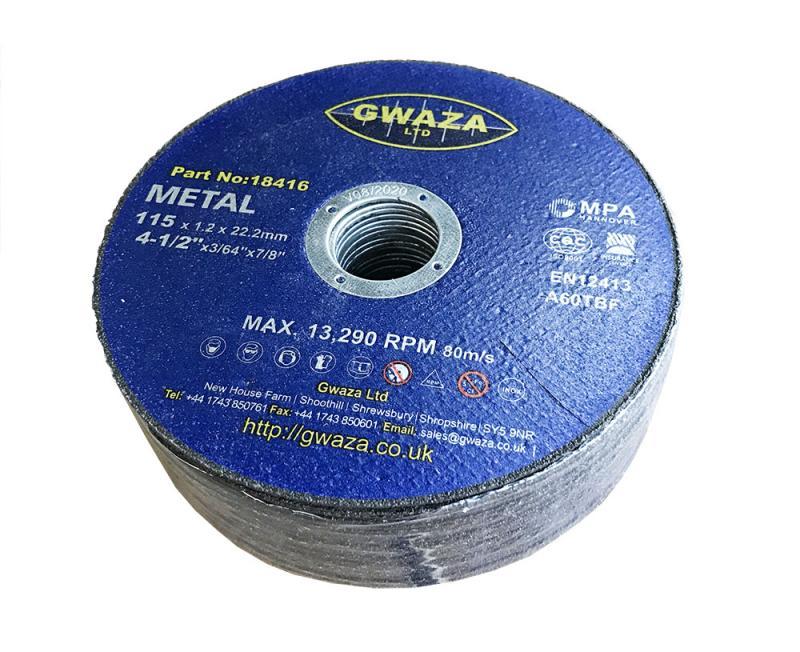"""Kapskiva Metall 115 x 1,2 x 22,2mm (4 1/2"""") 25-pack"""