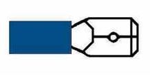 Kabelskor Flatstift Blåa Isolerade 6,3mm - 50-pack