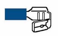 Kabelskor Dubbelflatstift Blåa Isoerade 6,3mm - 50-pack